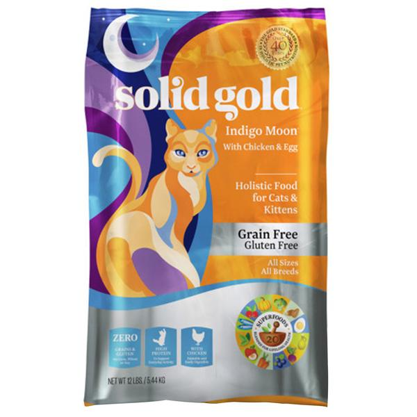 35% OFF: Solid Gold® Indigo Moon Chicken & Eggs Grain-Free Dry Cat Food (3 sizes)