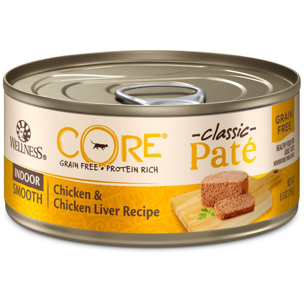 20%OFF: Wellness® CORE Pâté Indoor Chicken & Chicken Liver Grain-Free Canned Cat Food 156g (12/24pcs)