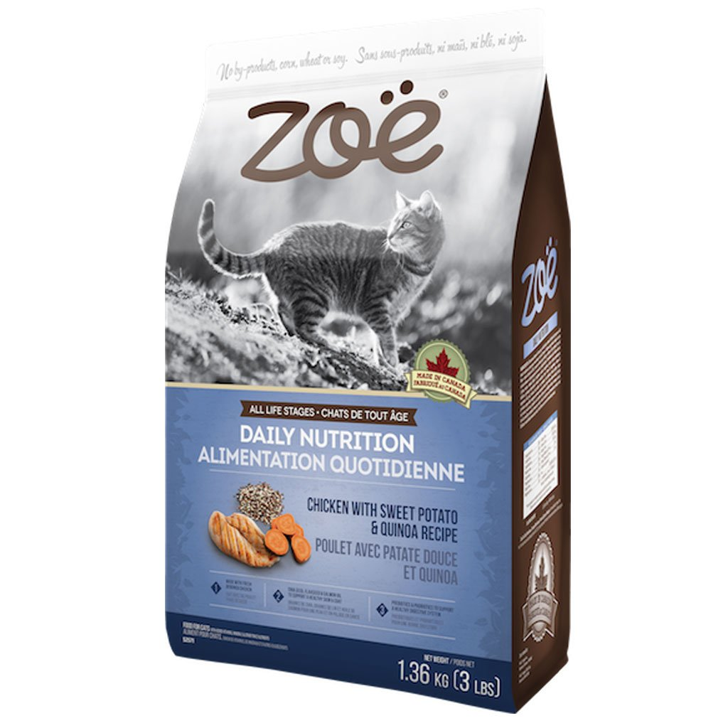 25% OFF [NEW]: Zoë® Daily Nutrition Chicken with Sweet Potato & Quinoa Dry Cat Food (2 sizes)