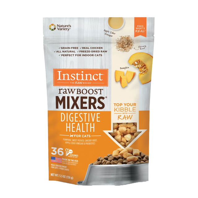15% OFF + FREE MIXERS: Instinct® Raw Boost Mixers Digestive Health Freeze-Dried Cat Food Topper (156g)