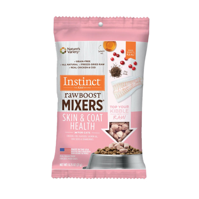 $3.50 ONLY [NEW]: Instinct® Raw Boost Mixers Skin & Coat Health Freeze-Dried Cat Food (21g)