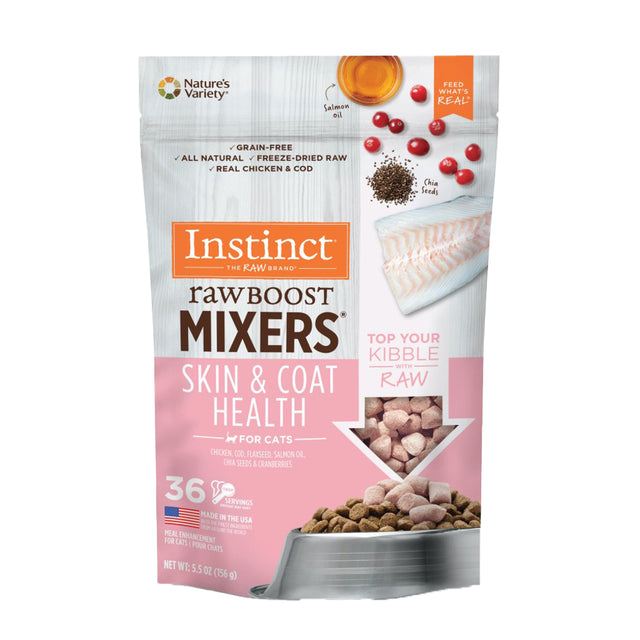 10% OFF [NEW]: Instinct® Raw Boost Mixers Skin & Coat Health Grain-Free Freeze-Dried Cat Food Topper (156g)