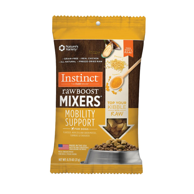 10% OFF [NEW]: Instinct® Raw Boost Mixers Mobility Support Grain-Free Freeze-Dried Dog Food Topper (21g)