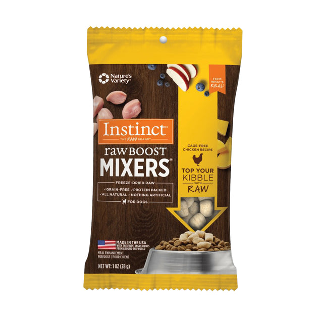 10% OFF [NEW]: Instinct® Raw Boost Mixers Chicken Grain-Free Freeze-Dried Dog Food Topper (28g)