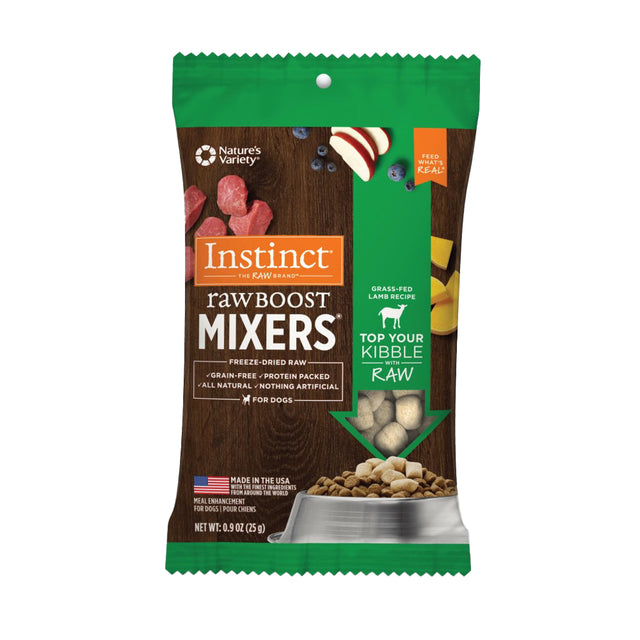 10% OFF [NEW]: Instinct® Raw Boost Mixers Lamb Grain-Free Freeze-Dried Dog Food Topper (25g)