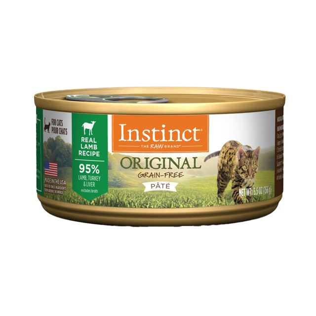 20% OFF [NEW]: Instinct® Original Grain-Free Pate Lamb Recipe Wet Cat Food 156g (12pcs)