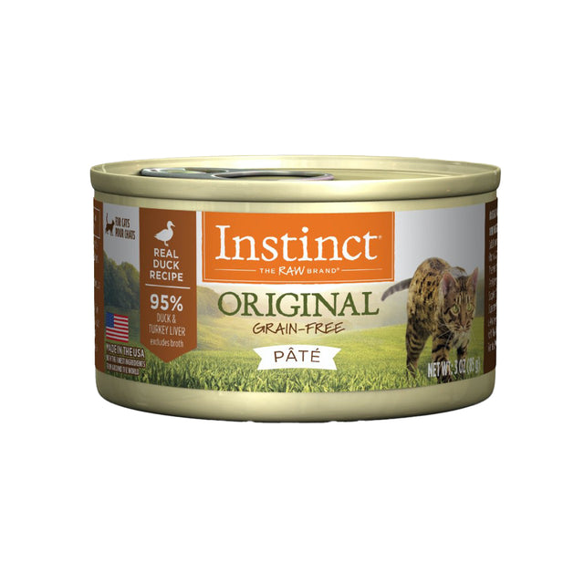 20% OFF [NEW]: Instinct® Original Grain-Free Pate Duck Recipe Wet Cat Food 85g (12/24pcs)