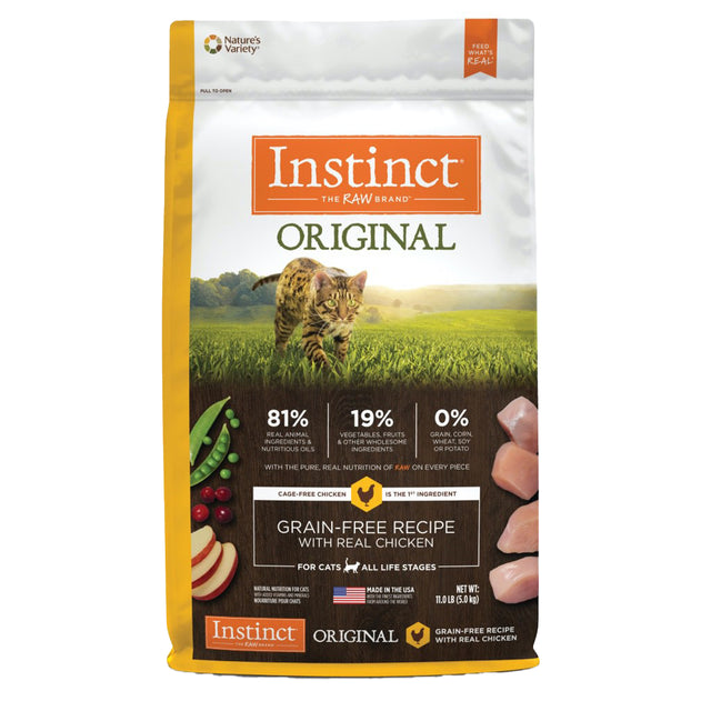 20% OFF + FREE MIXERS: Instinct® Original Grain-Free Chicken Dry Cat Food (2 sizes)