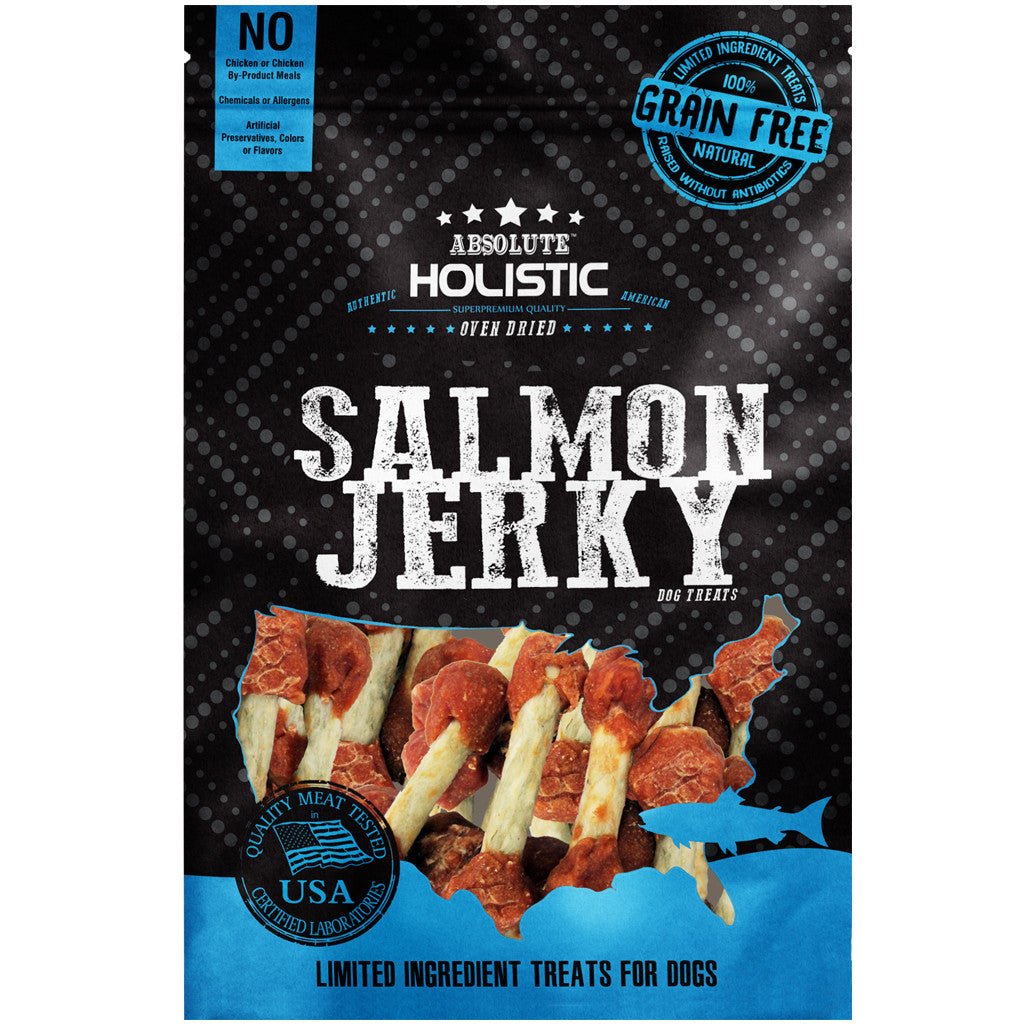 BUY 3 FREE 1 [SAVER]: Absolute Holistic® Grain-Free Salmon Dumbbell Dog Treats