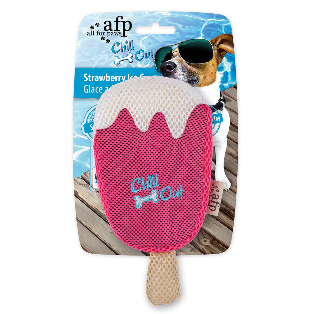 15% OFF [NEW]: AFP® Chill Out Strawberry Ice Cream Dog Toy