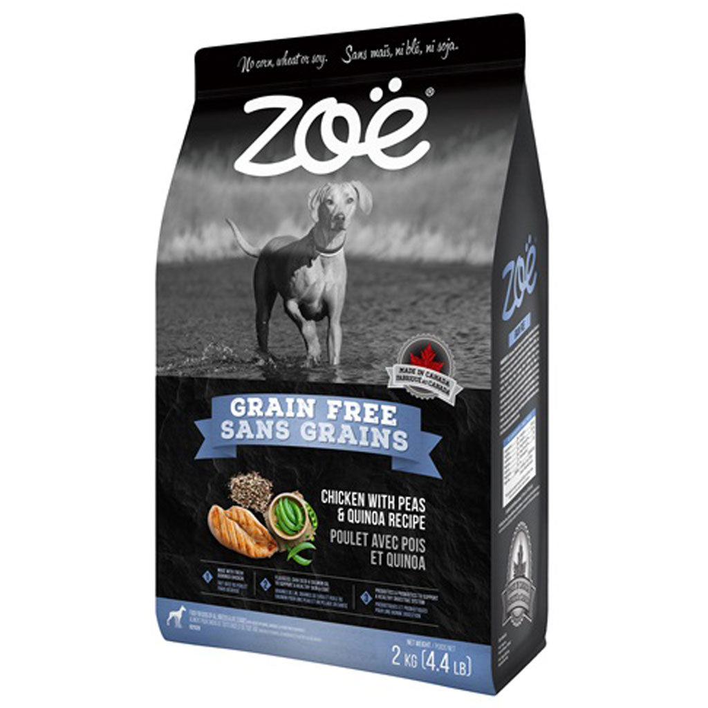 25% OFF [NEW]: Zoë® Grain-Free Chicken with Peas & Quinoa Recipe Dry Dog Food 2kg