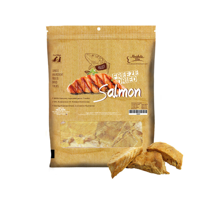[BUY 2 FREE 1] Absolute Bites® Freeze-Dried Salmon Dog & Cat Treats 58g
