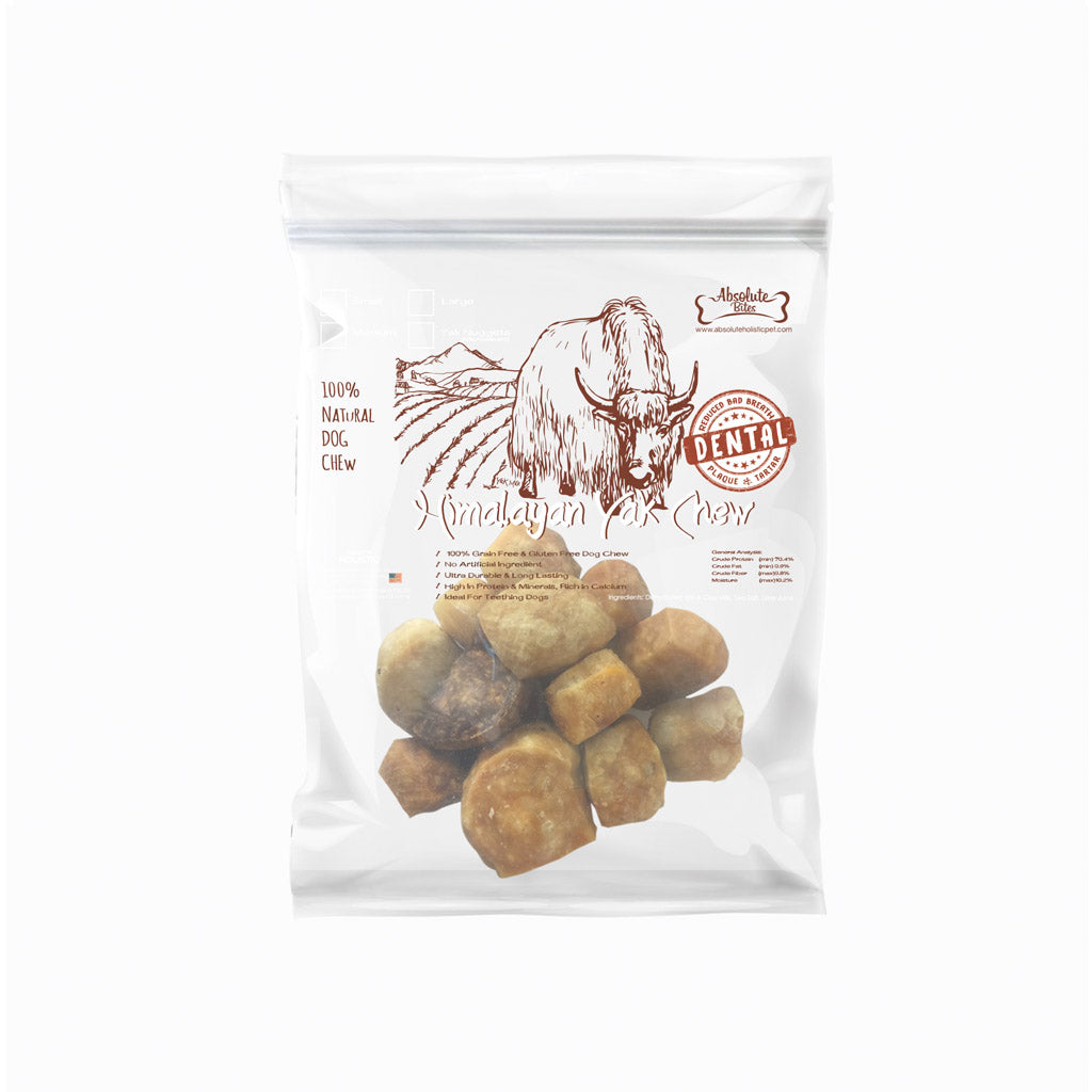 Absolute Bites® Organic Himalayan Yak Chew Nuggets Dog Treats (120g)