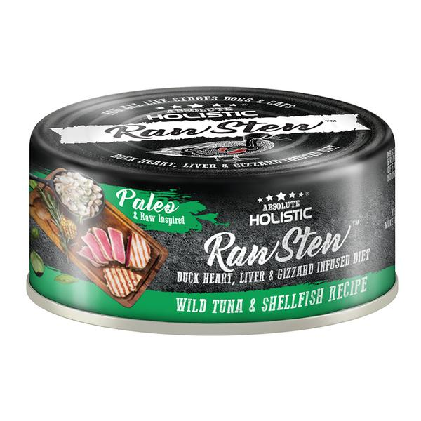 5 FOR $9 [SAVER]: Absolute Holistic® RawStew Wild Tuna & Shellfish Recipe Canned Dog & Cat Food (80g)