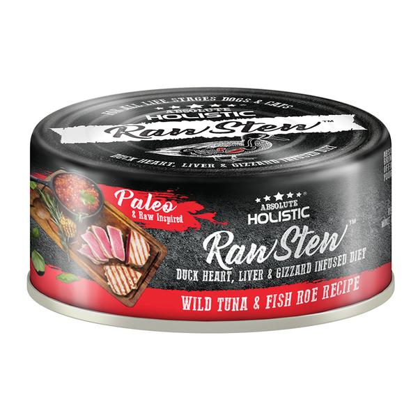 5 FOR $9 [SAVER]: Absolute Holistic® RawStew Wild Tuna & Fish Roe Recipe Canned Dog & Cat Food (80g)