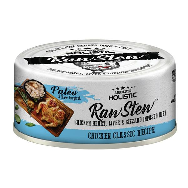 5 FOR $9 [SAVER]: Absolute Holistic® RawStew Chicken Classic Recipe Canned Dog & Cat Food (80g)