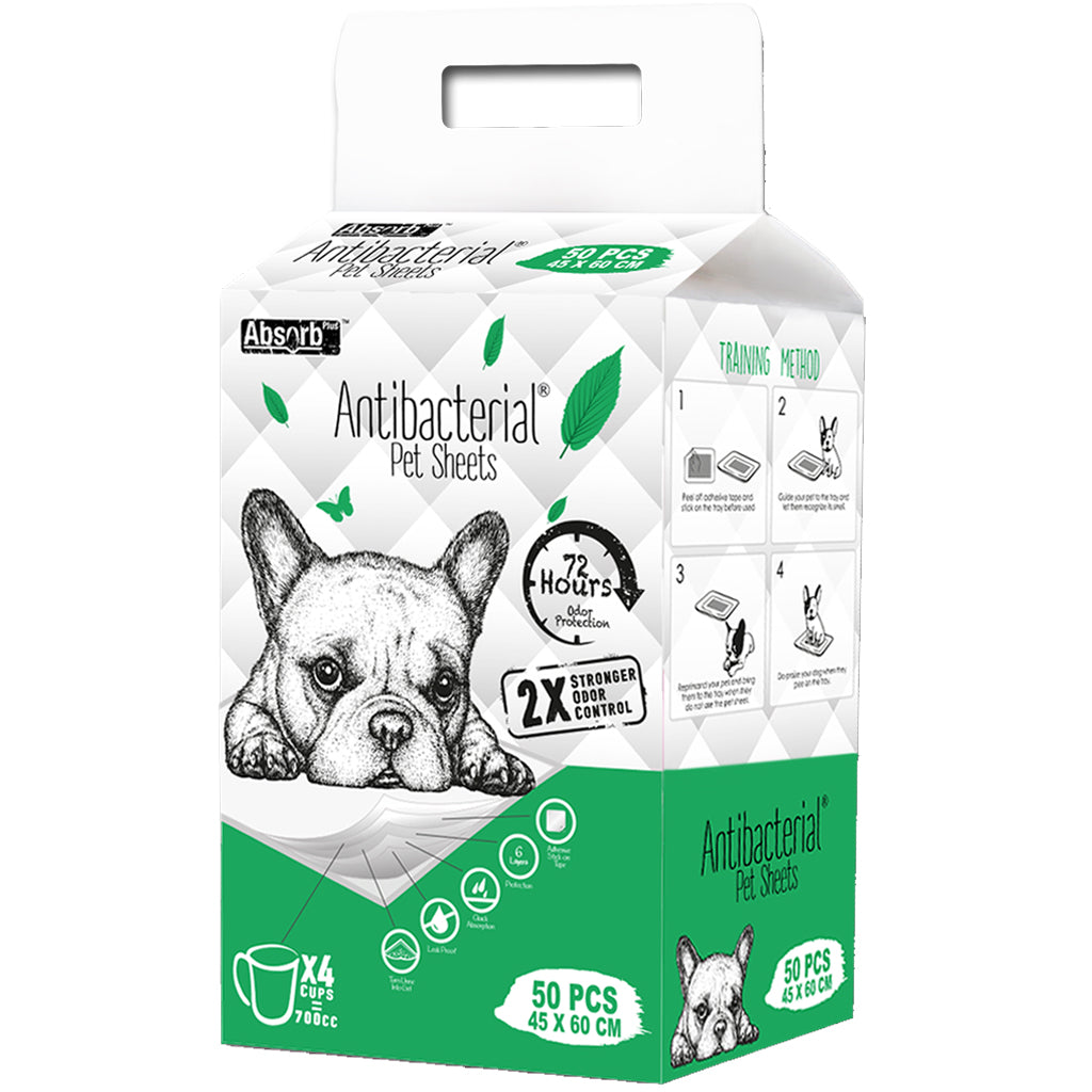 8 FOR $108 [MEGA SAVER]: Absorb Plus® Anti-Bacterial Pet Sheet Pee Pad (3 sizes)