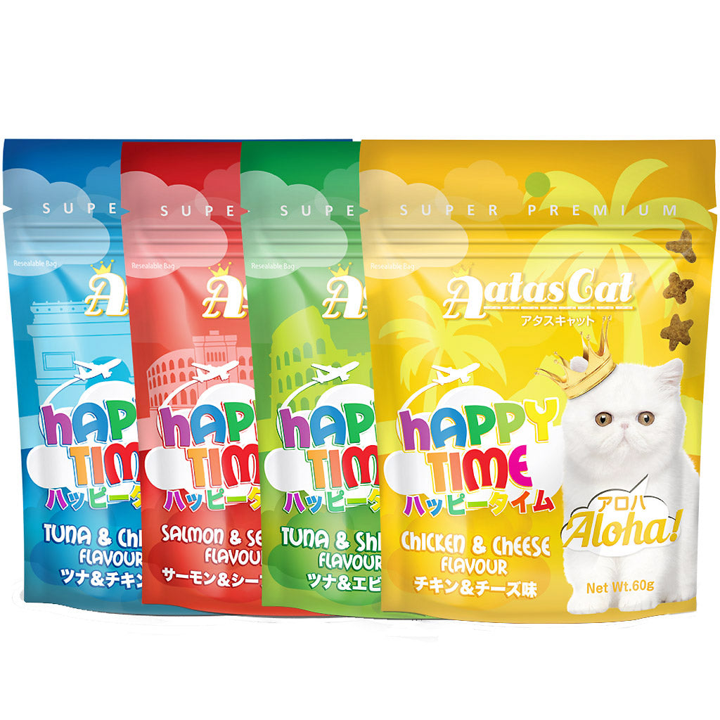 3 FOR $8.50 [EXPO20]: Aatas Cat® Happy Time Cat Treats - 4 Flavours