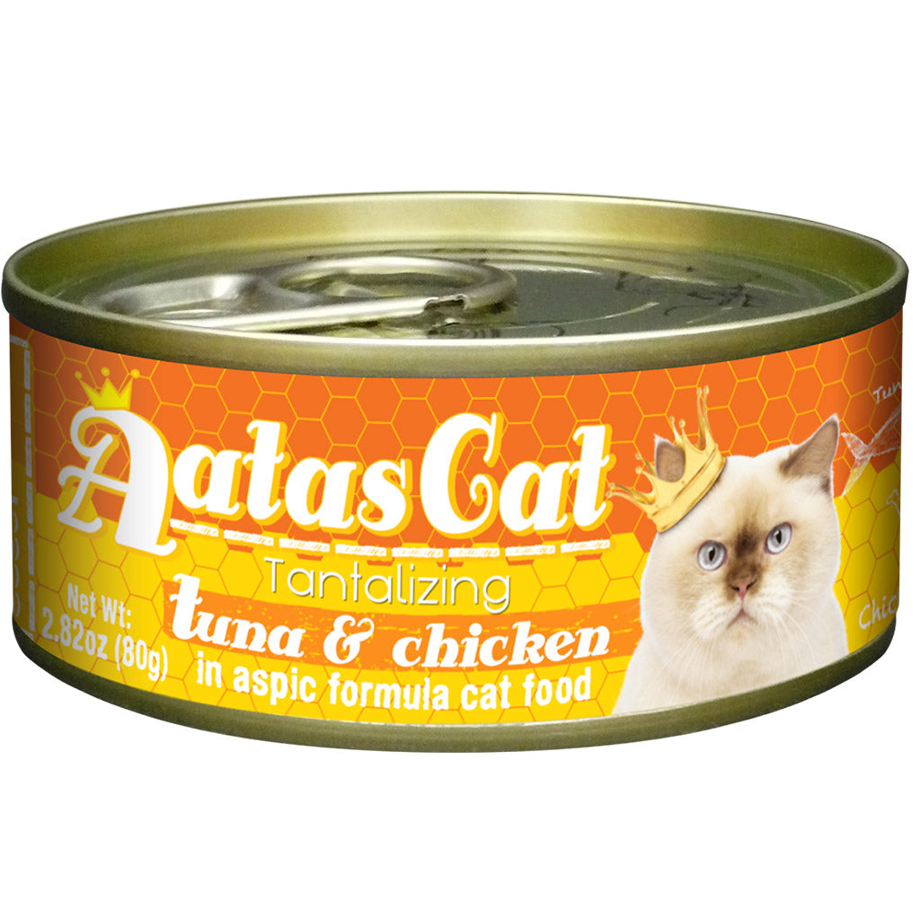24% OFF: Aatas Cat® Tantalizing Tuna & Chicken In Aspic Grain-Free Canned Cat Food 80g (24pcs)