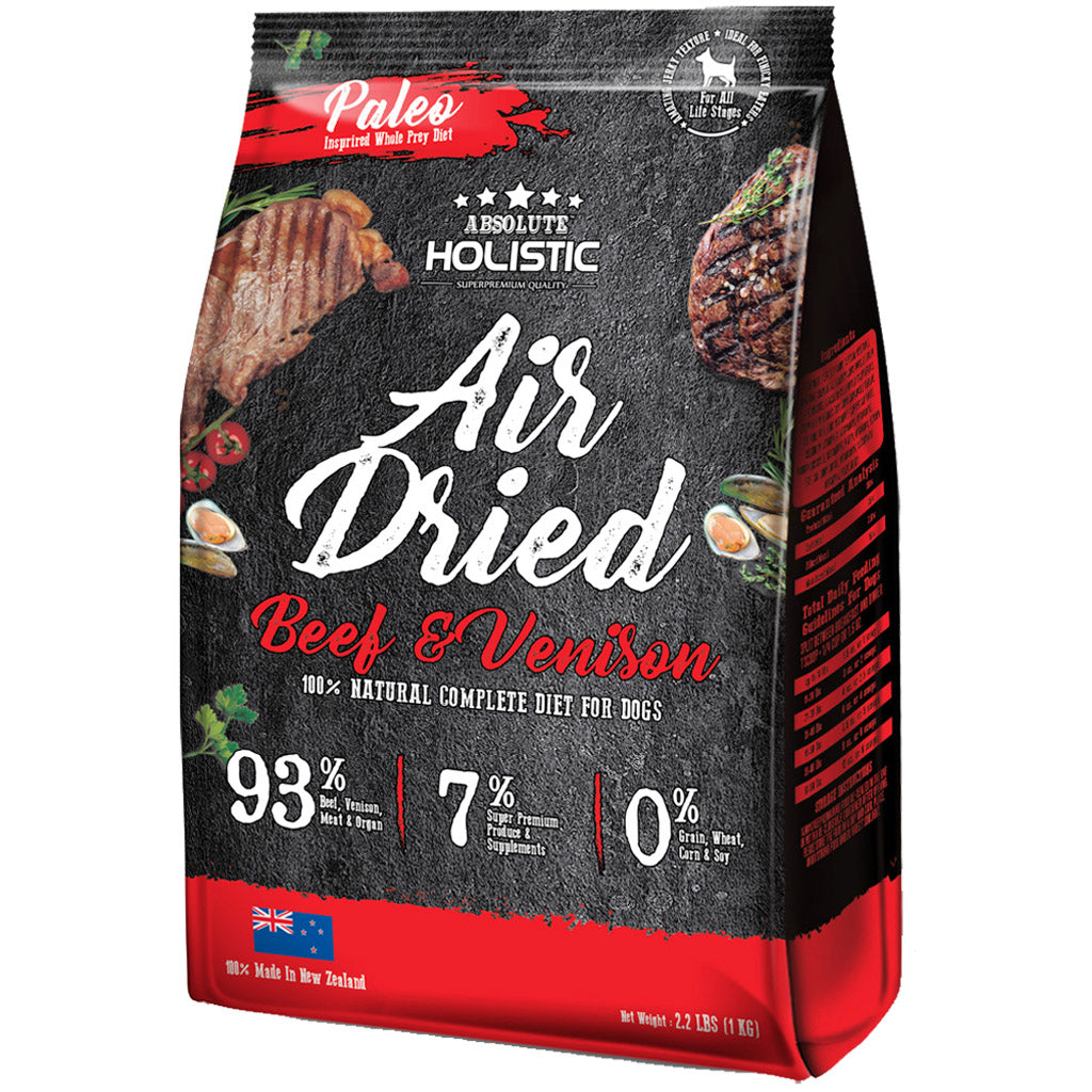 Absolute Holistic® Air-Dried Dog Food 1kg (4 Flavours)