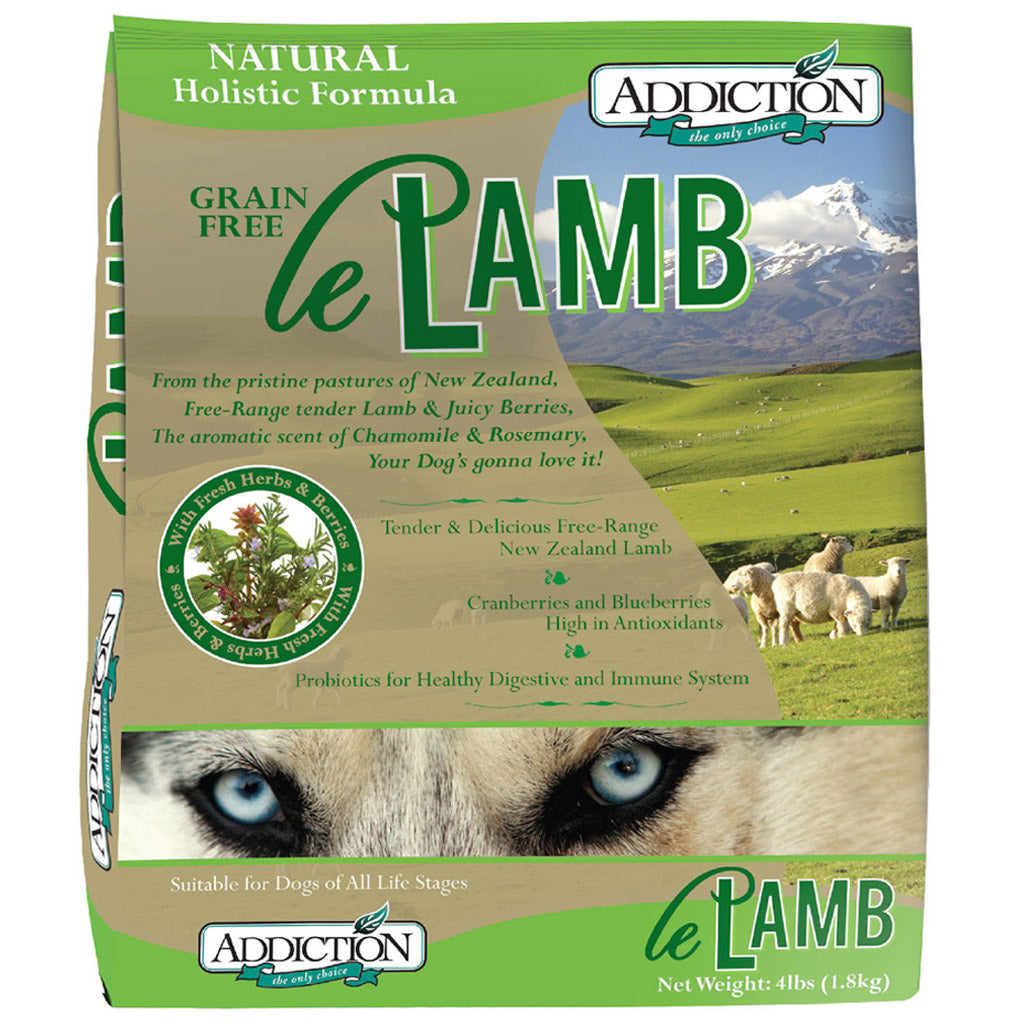 25% OFF + FREE TREATS: Addiction® Le Lamb Grain-Free Dry Dog Food (3 sizes)