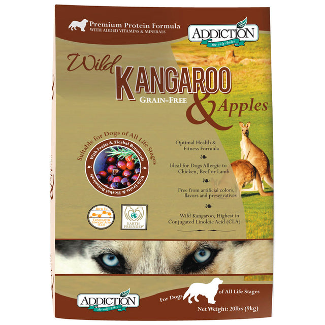 20% OFF: Addiction® Wild Kangaroo & Apples Grain-Free Dry Dog Food (2 sizes)