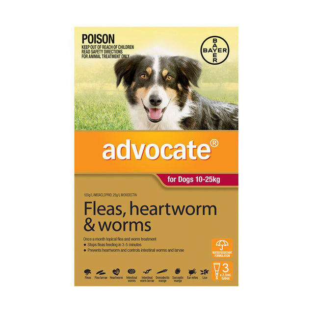 35% OFF: Advocate® Flea, Heartworm & Worms Treatment For Large Dogs (10–25kg)