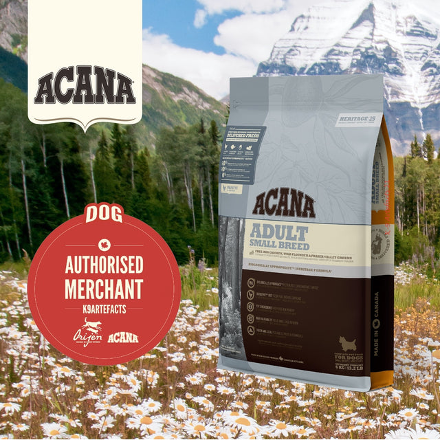 30% OFF + FREE GIFT: ACANA® Heritage Adult Small Breed Dry Dog Food (2 sizes)