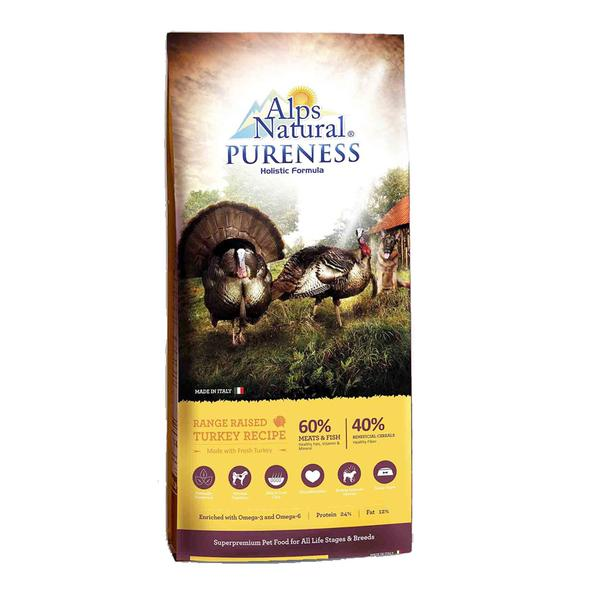 20% OFF + FREE TREATS: Alps Natural® Pureness Holistic Turkey Dry Dog Food (2 sizes)