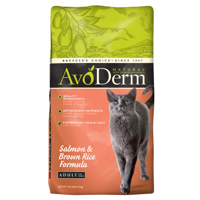 AvoDerm® Adult Salmon & Brown Rice Corn-Free Dry Cat Food