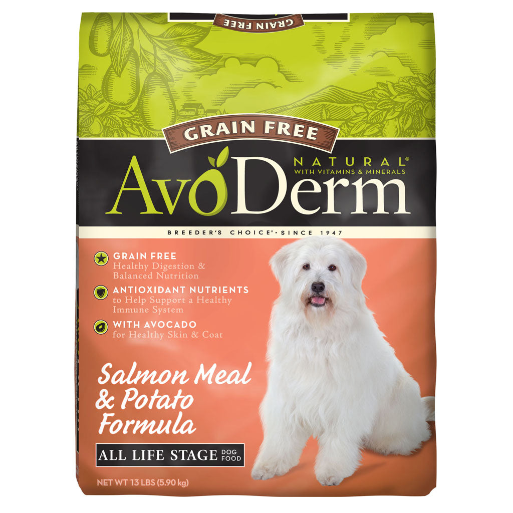 35% OFF: AvoDerm® Grain-Free Salmon Meal & Vegetable Formula Dry Dog Food (2 sizes)