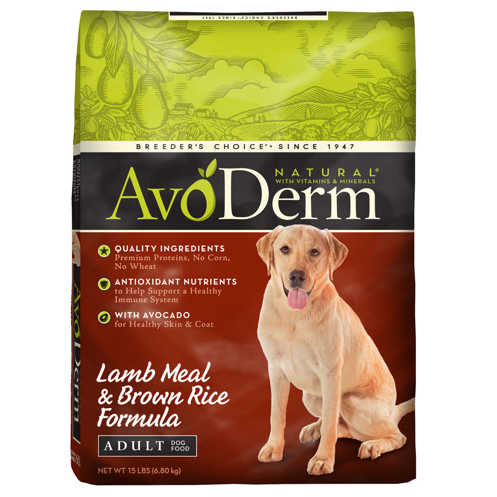 AvoDerm® Adult Lamb Meal & Brown Rice Dry Dog Food