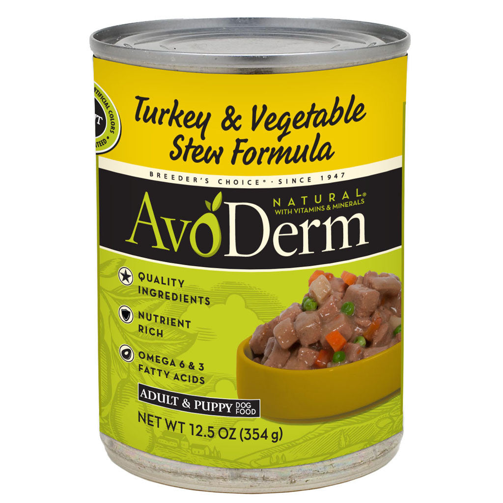 AvoDerm® Turkey & Vegetable Stew Canned Dog Food (12pcs)