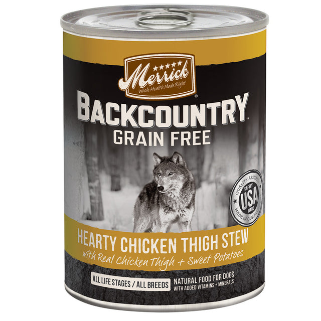 [SALE –20%] Merrick® Backcountry GF Chicken Thigh Stew Canned Dog Food (360g)