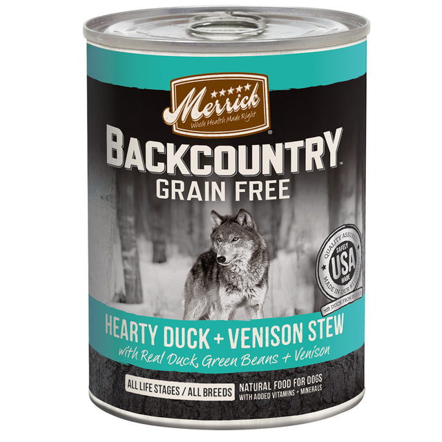 [SALE –20%] Merrick® Backcountry GF Duck & Venison Stew Canned Dog Food 360g (6/12pcs)