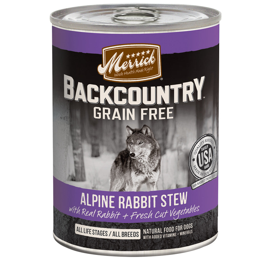 [SALE –20%] Merrick® Backcountry GF Alpine Rabbit Stew Canned Dog Food 360g (6/12pcs)
