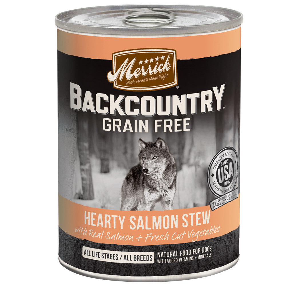 [SALE –20%] Merrick® Backcountry GF Salmon Stew Canned Dog Food 360g (6/12pcs)