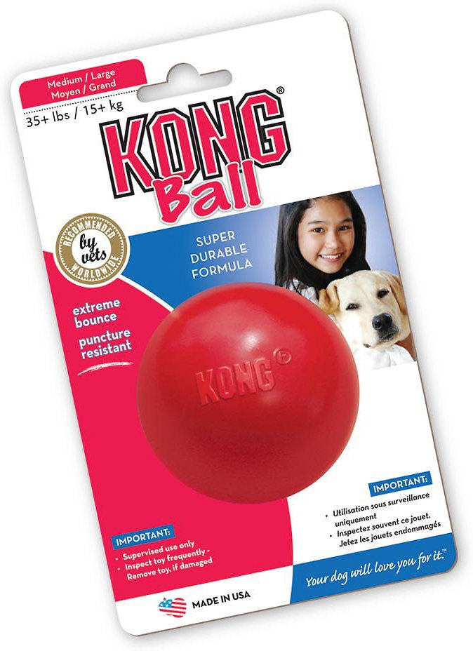20% OFF: KONG® Classic Ball Dog Toy (3 sizes)