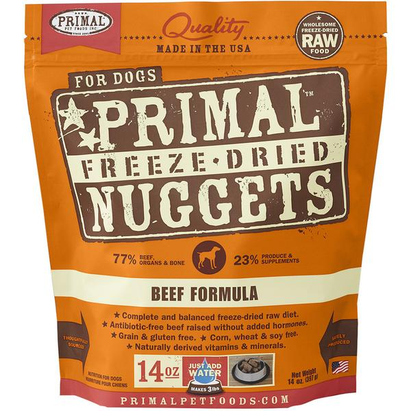 $44 ONLY [60% OFF]: Primal® Freeze-Dried Nuggets Beef Formula Dry Dog Food 397g (14oz)