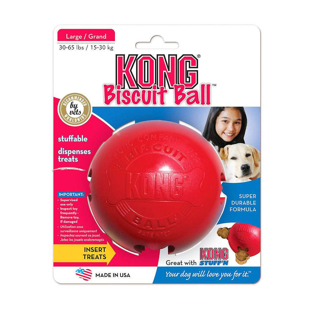 15% OFF: KONG® Classic Biscuit Ball Dog Toy (2 sizes)