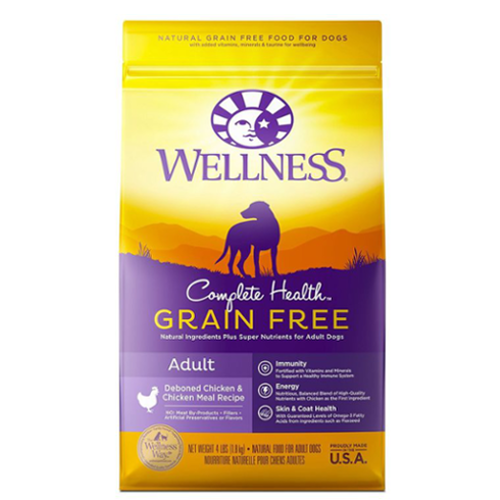 30% OFF + FREE TREATS [SAVER]: Wellness® Complete Health Grain-Free Dry Dog Food (5 Flavours)