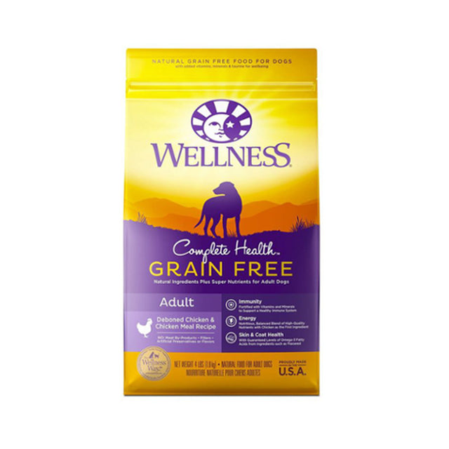 30% OFF + FREE TREATS: Wellness® Complete Health Grain-Free Deboned Chicken & Chicken Meal Dry Dog Food (2 sizes)