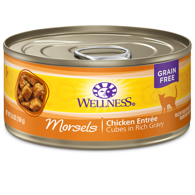 20% OFF: Wellness® Complete Health Morsels Chicken Entree Canned Cat Food 156g (12/24pcs)