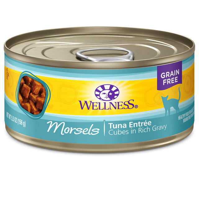 20% OFF: Wellness® Complete Health Morsels Tuna Entree Canned Cat Food 156g (12/24pcs)