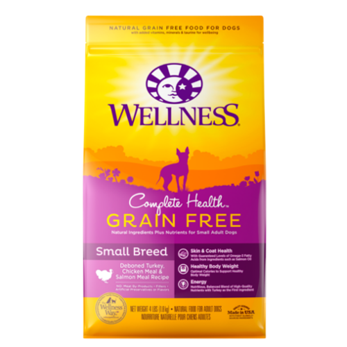 30% OFF w FREE TREATS: Wellness® Complete Health Grain-Free Small Breed Dry Dog Food (2 sizes)