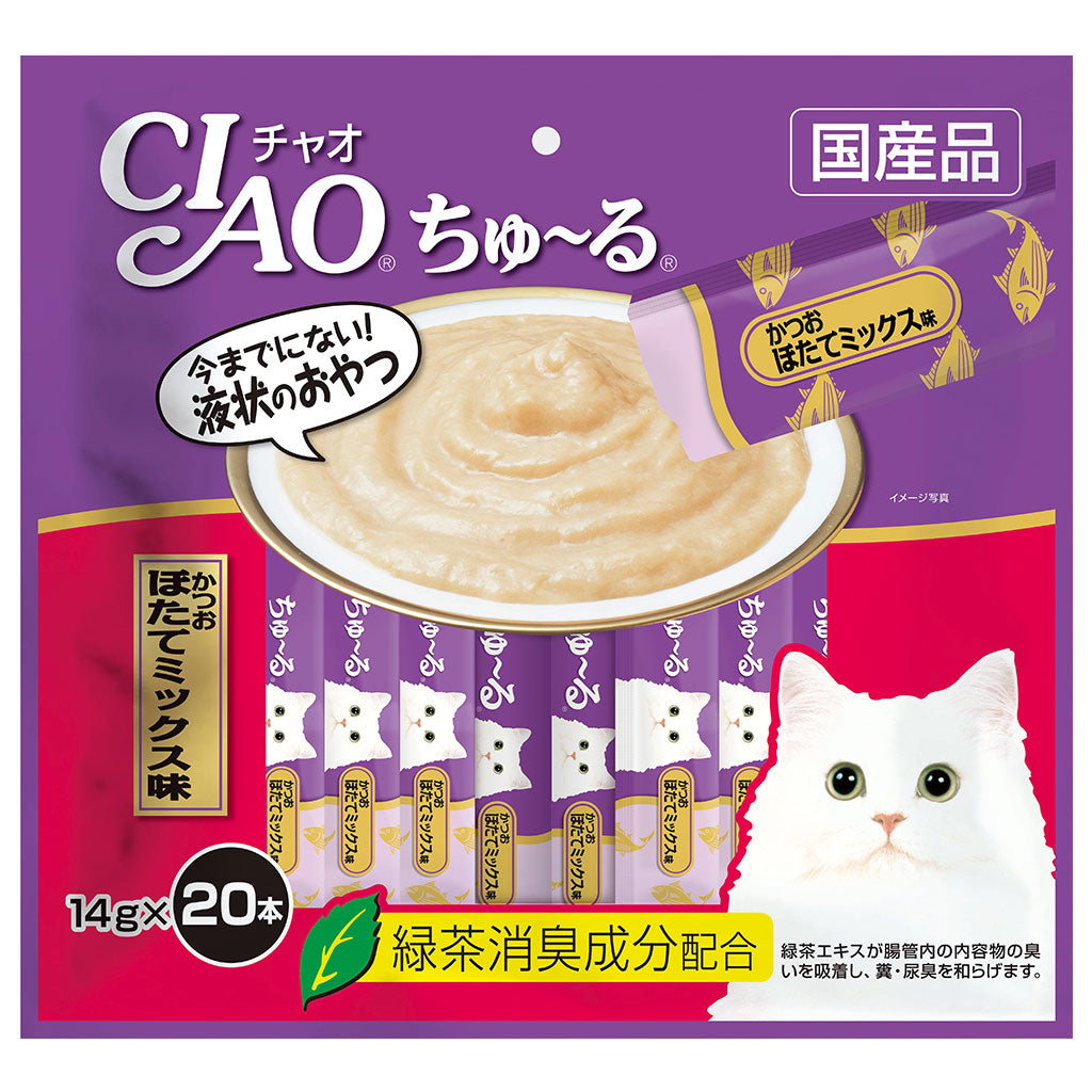 15% OFF: Ciao® Churu Tuna & Scallop Cat Treat 14g (20pcs)