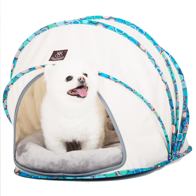 50% OFF [BFCM]: CJ® Comfy Cocoon Dog & Cat Bed - Blue