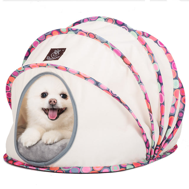 50% OFF [XMAS20]: CJ® Comfy Cocoon Dog & Cat Bed - Pink