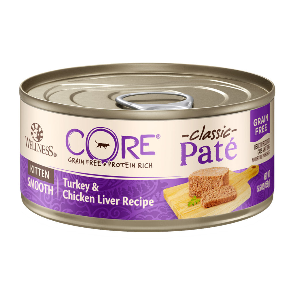 25% OFF: Wellness® CORE Pâté Kitten Grain-Free Canned Cat Food 156g (12/24pcs)