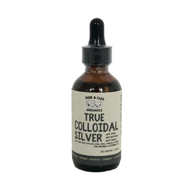 10% OFF: Dom & Cleo® Colloidal Silver Dropper for Dogs & Cats (59 ml)